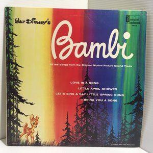 BAMBI Walt Disney Soundtrack Vinyl LP Record Black